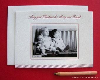 letterpress holiday photo cards