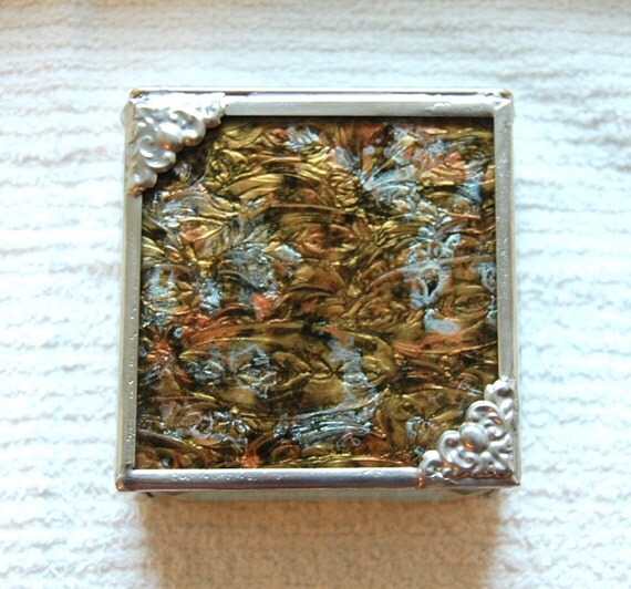 Stained Glass Box Van Gogh 3x3x1