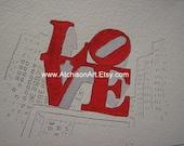 Watercolor Valentine Card  LOVE