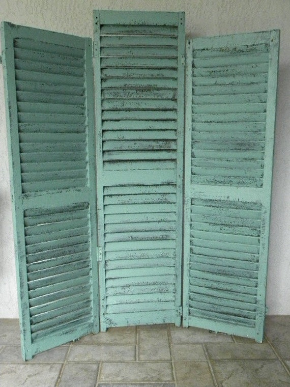 Vintage Shutters Screen and Room Divider
