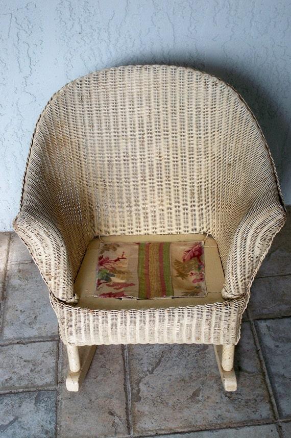 Antique Wicker Childs Rocking Chair