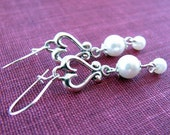 Hearts and Pearls Sterling Silver Earrings