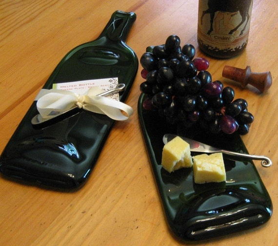 Melted wine bottle cheese plate - How do you melt glass bottles ...