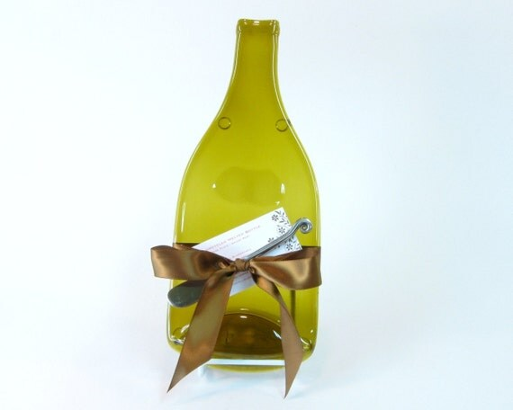 Beautiful upcycled melted wine bottle cheese by mitchellglassworks - How do you melt glass bottles ...