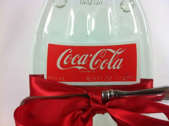 Recycled Soda Bottle Melted Glass Bottle Spoon Rest or Wall Hanging Vintage Coke