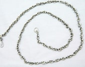 antiqued sterling silver twisted chain
