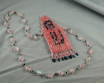 pink shin amulet bag