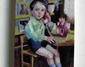 Toy Phone / Tiny canvas print
