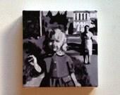 Whitewashed house / Tiny canvas print