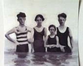 Swimmers / Print -  BLACK AND WHITE print art