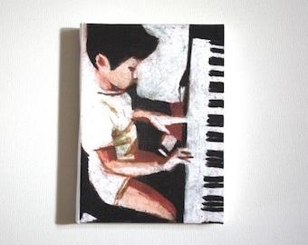piano /Tiny canvas print