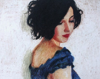 Rimma / Paper print -  woman PORTRAIT ART PRINT