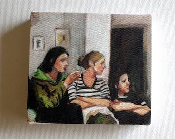 TV  / Tiny canvas print