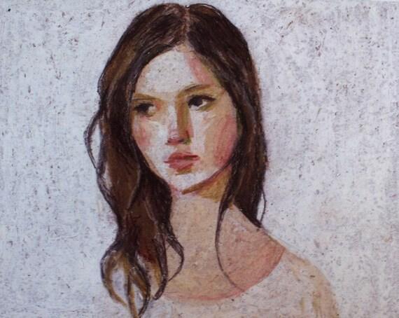 Jane / Print -  woman PORTRAIT ART PRINT
