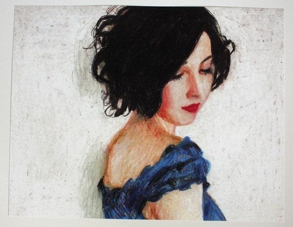 Rimma / Big print - woman PORTRAIT ART PRINT