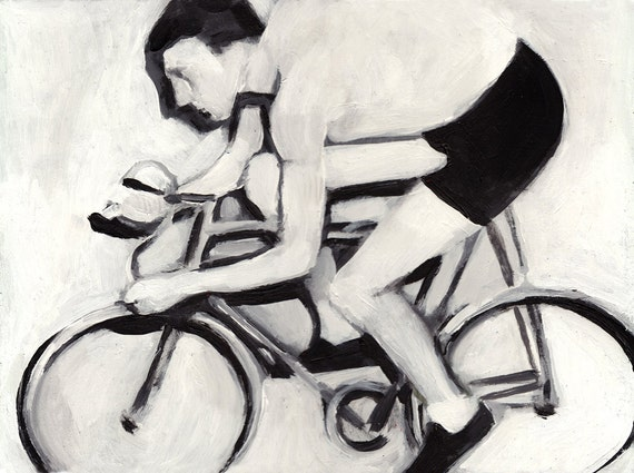 Bicycle Race / Original painting