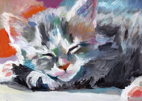 Small cat / Original painting