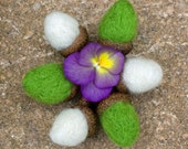 Acorn Needle Felted Sculptures