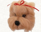 Needle Felted Dog Yorkshire Terrier Hanging Ornament