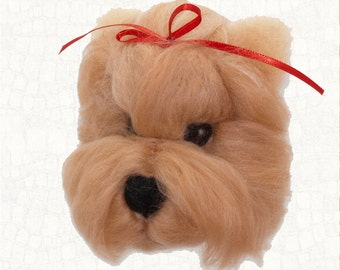 Gift For Her Gift For Him Christmas Gift Birthday Gift Needle Felted Dog Yorkshire Terrier Hanging Ornament