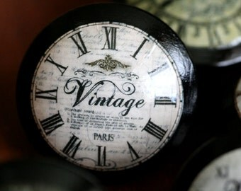 Vintage Knobs Paris Time Door Pulls