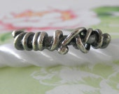 Unico Sterling Silver Oxidized Rustic Ring. Size 6.75