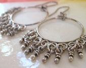 Sterling Silver Only Earrings. Rustic Oxidized Chandelier Cinderella Handmade Jewelry Etsy