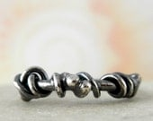 Unico Sterling Silver Ring. Oxidized Rustic. Size 7.25
