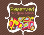 RESERVED for Josie