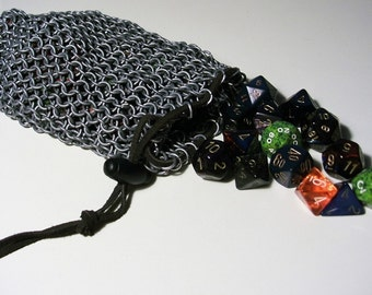 STEEL - Chainmail Dice Pouch