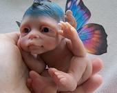 OOAK Baby Rainbow Butterfly by Malga