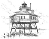 Drum Point Lighthouse - print