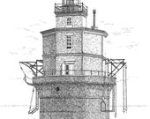 Wolf Trap Lighthouse - print