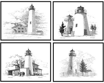 Save 8.00 0n Any 4 Lighthouse Print Combo