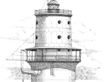 Thimble Shoal Lighthouse - print
