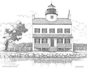 Blackistone Island Lighthouse - print