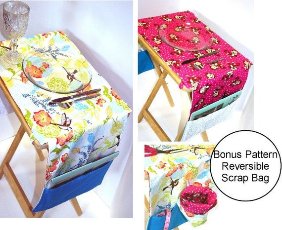Reversible T.V. Tray Placemat with Pockets pdf Sewing Pattern
