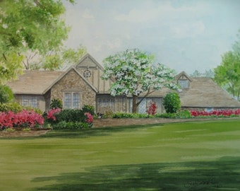 Custom Watercolor House Portrait by Suzanne Churchill, Perfect Realtor Closing, Housewarming Gift, Wedding Gift, or Moving Gift