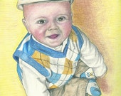 Custom Colored Pencil Portrait - One Subject-  8 x 10