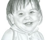 Custom Graphite Pencil Portrait - One Subject - 9 x 12