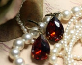 Fiery Madeira Topaz Vintage Estate Earrings Heirloom Burning Fires Passionate Lovers