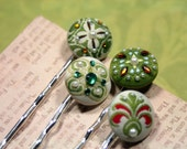 Make Going Green Every Day Sassy Green Bobby Pins