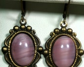 Pixie Dust Pink Cab Earrings Playful Whimsy