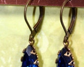 Serendipity Blue Leverback Earrings