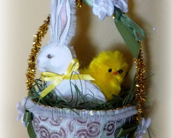 Bunny & Chick Easter Ornament