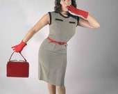 Black Friday Sale - Vintage 1950s Dress // The Sexy Secretary Wiggle Dress // Autumn Fall Fashion Mad Men Style
