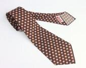 Vintage 1930s Necktie // Rare Brown and Orange Wool Classic Men's Tie by Wembley