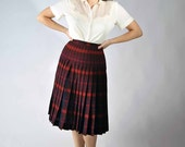 Vintage 1950s Skirt // Fall Fashion at Fab Gabs: The Two Fer Pendelton Reversible Plaid Skirt