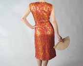 Vintage 1950s Cocktail Party Dress // Holiday Style at Fab Gabs: The Dragonlady Asian Motif Wiggle Dress