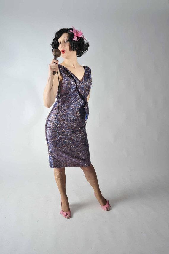 Vintage 1960s Cocktail Dress //: The Tinsel Town Sparkling Cocktail Dress in Eyelash Lame